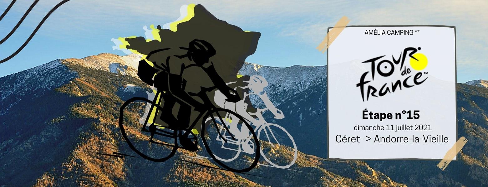 Tour de France étape n°15 Céret - Hébergement camping