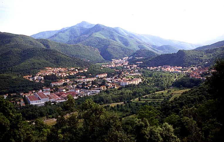 Vue panoramique ville Amélie-les-Bains